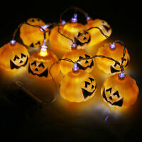 LED Pumpkin 10 String Halloween Decoration Fairy Lights Lantern Party Home Props