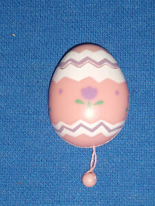 Russ Easter Pin Chick in Egg Pull String Pop Up