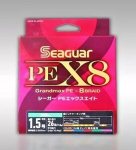 SEAGUAR GrandMax PE x8 Braid Fishing Line 300M 5-colored Metered made in Japan