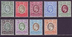 Somaliland 1905 SC 40-48 MH Set