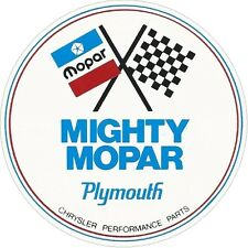 "Mighty Mopar Performance 4"" Classic VIntage sticker decal NHRA RatRod Street Rod"