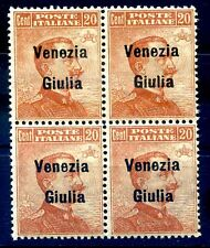 VENEZIA GIULIA 1918 - Cent. 20   QUARTINA   **