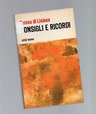 consigli e ricordi - teresa di liseux - 1973
