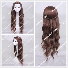 Game of Thrones Margaery Tyrell Dark Brown Braid Cosplay Wig + free wig cap