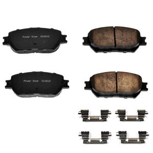 Power Stop 17-908 Z17 Low-Dust Ceramic Brake Pads with Hardware Front