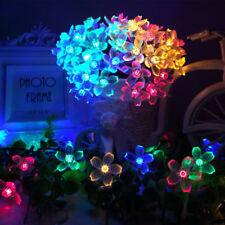 5M LED Solar Batterie Lichterschlauch Weinachten Lichterkette bunt Leuchte Außen