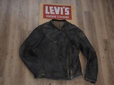 Levis (LVC) estrellas y rayas jinete chaqueta tamaño M (L) ropa VINTAGE Cafe racer