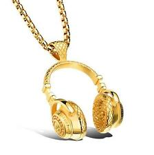New Gold Headset Car Mirror Pendant Interior Jewelry Decor Hanging Ornament
