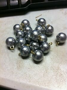 10 pcs, 1oz Cannon Ball Sinkers, Weights, Fishing, Lead cannonball