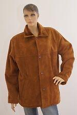 Jacke Damen Damenjacke Rauhlederoptik braun Langarm 52 (1702C-OH3#) 06/2020SD