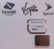 New Sprint Nano 4Ff Sim Card Simolw416Q 02.02 Sku:Cz4114Lwq Ting Tello Boost