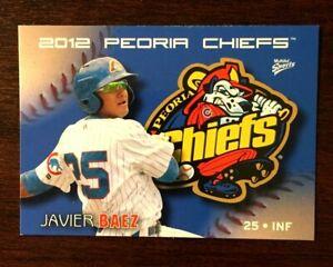 2012 Multi-Ad Peoria Chiefs Minor League Team Set with Javier Baez #1 unopened