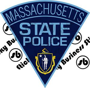 Massachusetts State Police Patch Sticker
