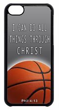 For Apple iPod 4 5 6 Basketball NBA Theme Bible Verse  Black/White Case Cover
