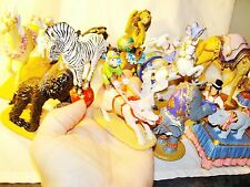 ANIMAL CIRCUS SET Metal Figures Bear Pig Lion Tiger Hippo Zebra Monkey Ringling