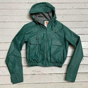 Vintage 1980s COLUMBIA SPORTSWEAR Fly Fishing Wading Jacket Green Waterproof SM