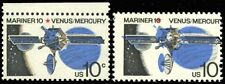 1557, Mint NH 10¢ Mariner Space Black Color Shifted Right ERROR - Stuart Katz