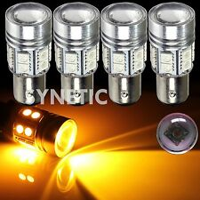 4x 1157 High Power Cree Amber Yellow Brake/Stop/Tail/Turn Signal LED Light Bulbs