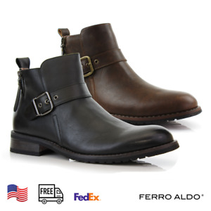 Ferro Aldo Men's Casual Zipper Motorcycle Ankle Combat Classic Chelsea Boots