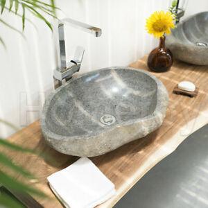 Waschbecken Flussstein Ovale Naturstein Waschschale Waschtisch Unikatauswahl