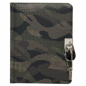 WHSmith Urban Camo A6+ Lockable Journal