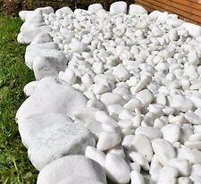 More details for decorative marble extra white stones pebbles pathway rockery garden aquarium