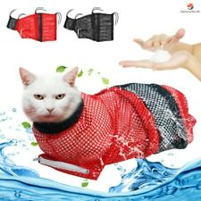 New listing Cat Grooming Bag Kitten Wash Polyester Mesh Nail Scratch Bite Resistant Bath