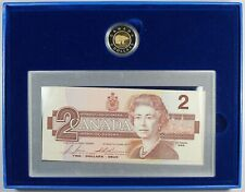 Royal Canadian Mint / Uncirculated - Canada $2 Proof Coin and Bank Note Set 1996
