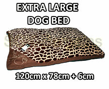 X-LARGE Warm Comfy Puppy Pet Dog Cat Pillow Bed Mat Basket Washable TIGER