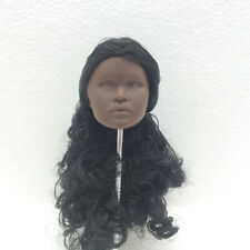 Fashion Royalty color infusion black curly hair nadja integrity female doll head