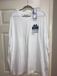 NWT Armour Notre Dame Football White Loose Fit Heatgear Long Sleeved Tee 3XL