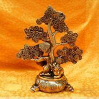 noble Decor Golden Brass Fengshui pi xiu Wealth coin cash Cow Money Tree Statue