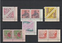 Liberia Birds 1953 Mint Never Hinged Pairs Stamps Ref 35968