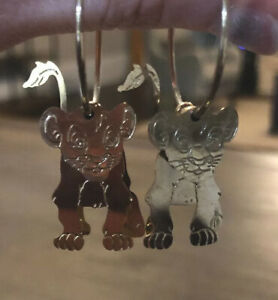 The Lion King Simba stainless steel silver stud earrings rockabilly Disney Nala retro vintage kawaii kitsch pin up accessories ladies girls