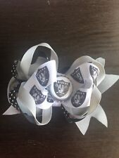 Girl's Hair Boutique Bow Nfl Oakland Raiders
