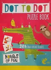 children, KIDS GIANT 264 PAGES DOT TO DOT book,, 20cm x 27.5cm ,days of fun,