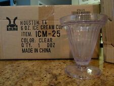24 Commerical 6oz Clear Tall Dessert Cup - Hard Plastic, Reuseable