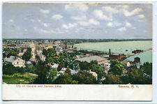 Panorama Geneva Seneca Lake New York 1907 postcard