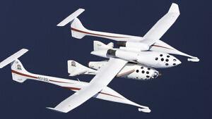 Space Ship One  White Knight.  paper model 1х32