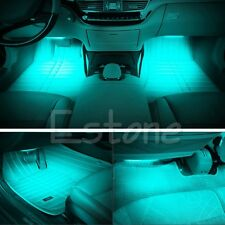 High Quality DIY Ice Blue 2X12 LED Car Interior Floor Decor Atmosphere Light