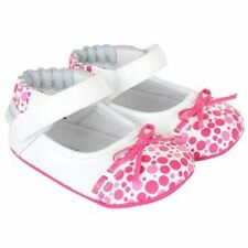 NIB Robeez Shoes Mini Shoez Lovely Lola White Patent Pink Dots 9-12m 4