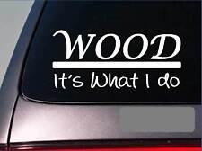 Wood sticker decal *E291* carpenter cabinets saw logging logger chainsaw ax leaf