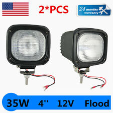 2X 35W 4INCH 12V 6000K FLOOD HID XENON 4X4 OFFROAD FOG WORK HEADLIGHT JEEP /SPOT