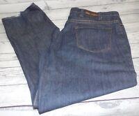Men's J Ferrar Dark Blue Relaxed Straight Jeans  Size 46X34