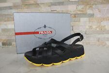 PRADA T 39 sandales sandals 3x6170 Chaussures Noir Jaune Nouveau Prix Recommandé 450 €