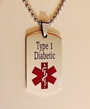 Personalized Stainless Steel Medical ID Alert Necklace (you pick engraving!)