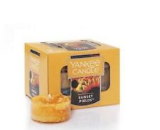 5 BOXES---YANKEE CANDLE TEALIGHTS 12 CT BOX- SUNSET FIELDS