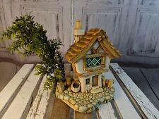 vtg vintage Pendelfin cobble cottage house 1692 statue made England home tree