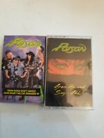 Poison Cassette Tapes Lot Of 2