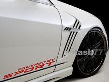 Powered by SPORT Vinyl Decal Sticker Racing Performance Car Emblem logo 2pcs